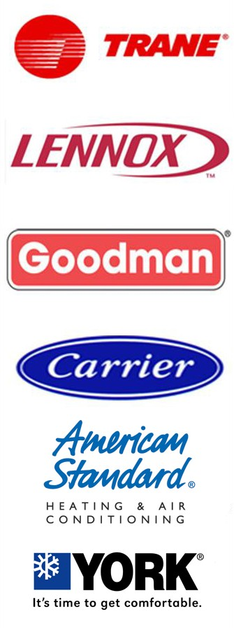 hvac logos trane,lennex, carrier, goodman, york, american standard